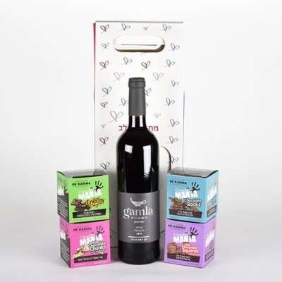 יין מהלב במארז עץ- מתנות לפסח, מתנות ללקוחות