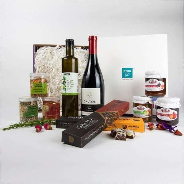 מארז גורמה ישראלי- חבילות שי, מתנות לראש השנה, מארזי יין ושוקולד, מתנות לעובדים