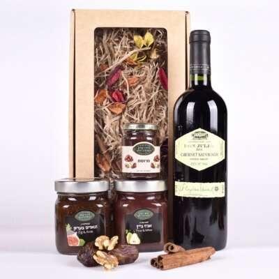 מארז קונפיטורות ויין לפסח- מתנות לפסח