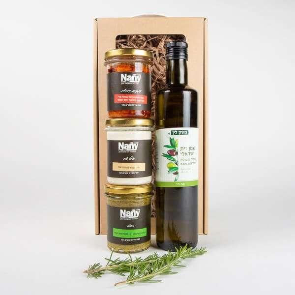 שמן זית וממרחים- חבילות שי, מארזי יין ושמן זית, מארזי ממרחים, מארזי שי