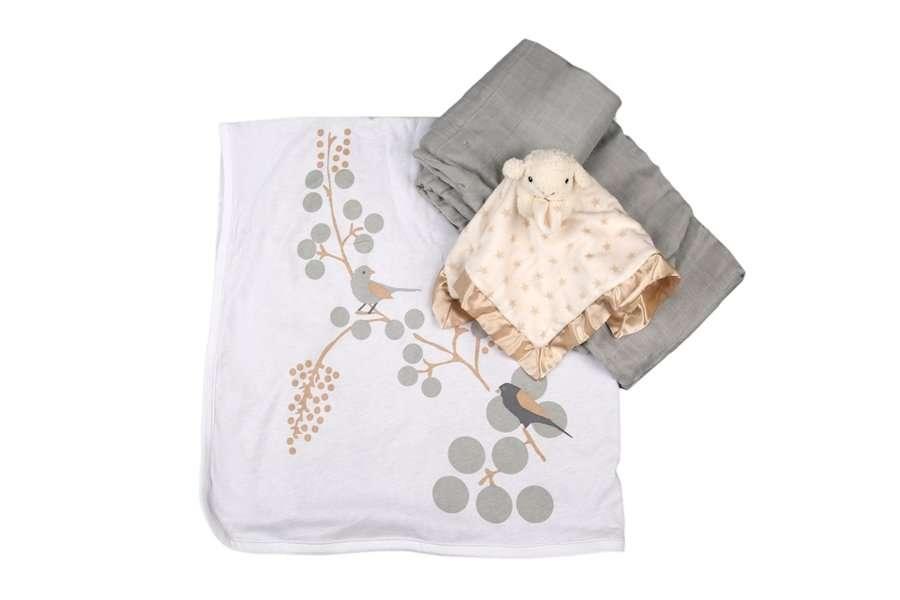 מארז שמיכת עריסה לתינוק- שי ליולדת, מתנות ליולדות, מארזי לידה