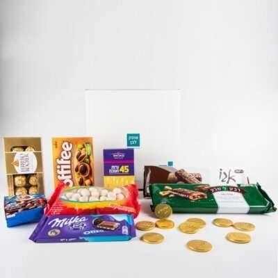 חגיגת שוקולדים לחנוכה- מארזי שוקולד לחנוכה לילדים