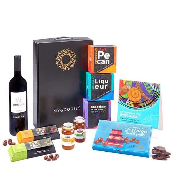מארז יין ושוקולדים ללקוחות
