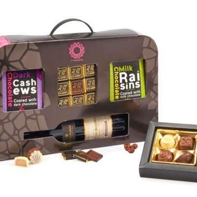 מארז שוקולדים ציריך- מארזי שוקולד ויין, חבילות שי, מתנות לפסח