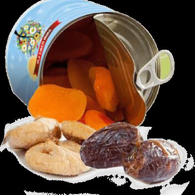 פחית פירות יבשים ממותגת- מתנות לטו בשבט, מתנות לעובדים