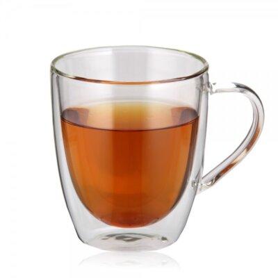 ספל תה זכוכית כפולה