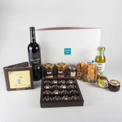 בוטיק טעמים לחג- מארזי יין, מארזי שוקולד, מארז שמן זית וממרחים