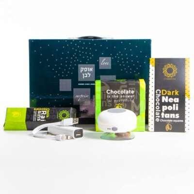 מארז גאדג'טים מתוק- חבילות שי, מתנות לראש השנה, מתנות לעובדים, מתנות ללקוחות
