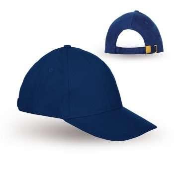 כובע עם סגר מתכת- כובעים ממותגים, הדפסה על כובעים, כובע עם לוגו