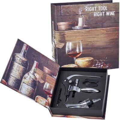 מארז כלי אביזרי יין