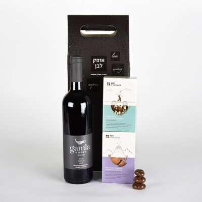 אספרסו בגמלא- מתנות לפסח, מארזי שוקולד, מארזי יין