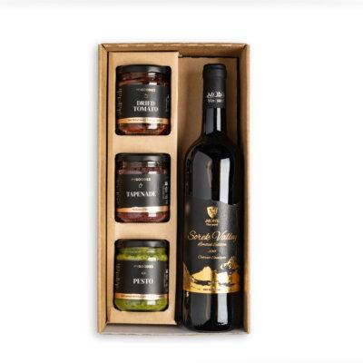 מארז יין וממרחים- מתנות לפסח, מתנות לראש השנה