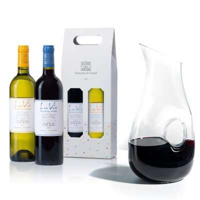מארז דיקנטר ויין- מתנות לראש השנה, מתנות לפסח, מארזי יין, מארזי שי